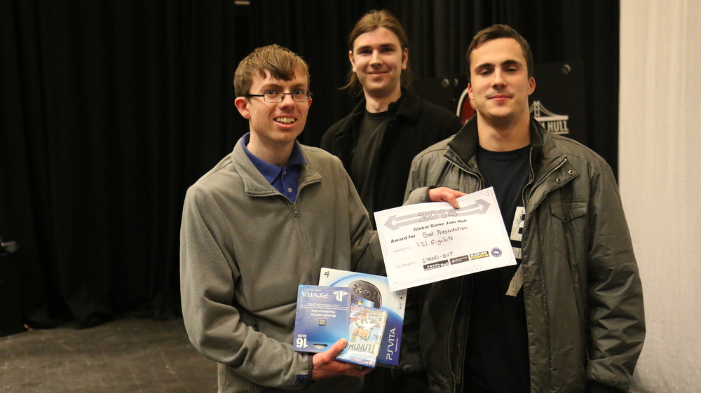 """This is 121 Gigabits with their """"Best Presentation"""" award. Their game is superbly presented, and you can even download and play it."""