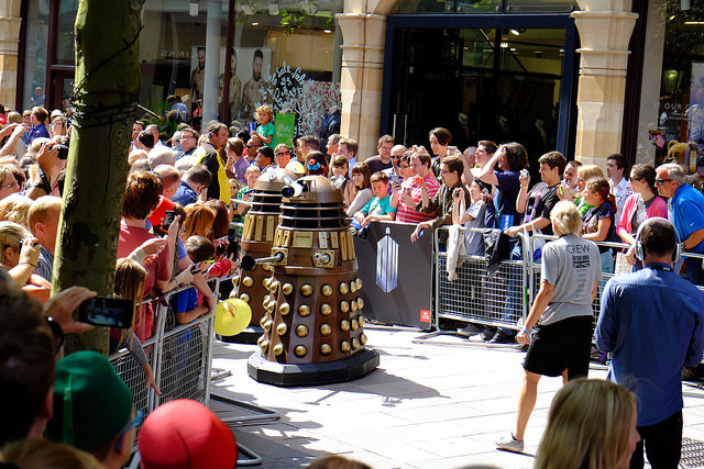 Turns out daleks don't do autographs