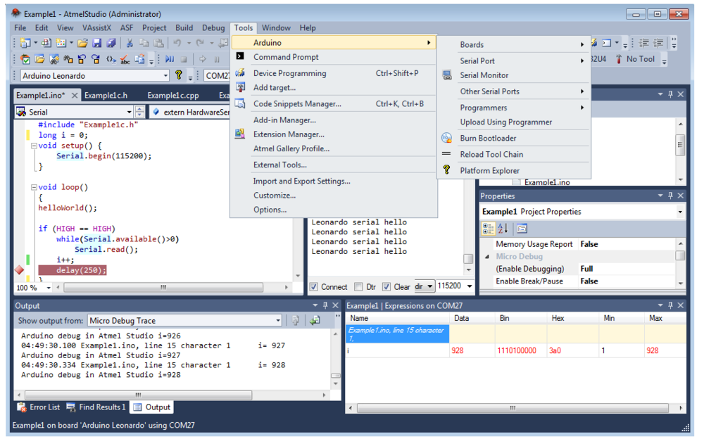 external support for programmers in tool building See avrstudio tools help for mki and mkii device support supported programmers loaded from an external party programming software tool.
