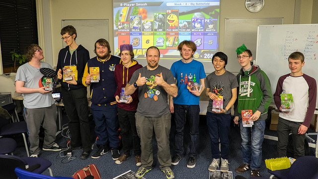 The winners with their prizes