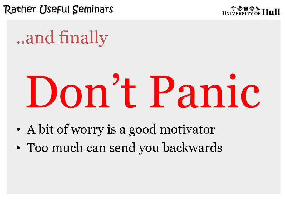 The final slide....