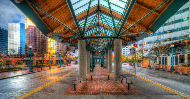 Get a bus from the Bellevue transit centre