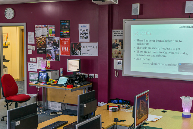 We had some great sessions, this is the presenter setup just after a group had left.