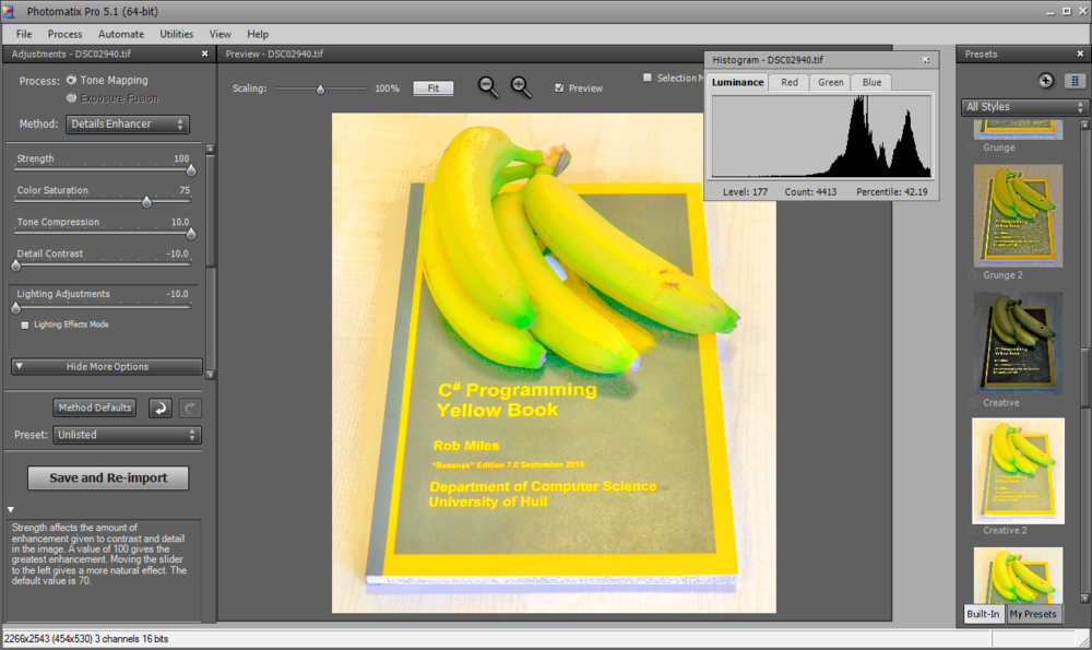 Tone mapping bananas....