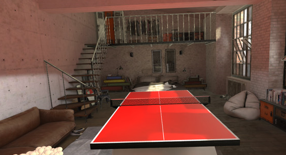 It's like having abasement with a table tennis table in it
