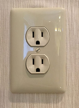 Even US power sockets seem to be passing comment on the election result last night.