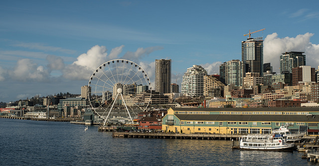 Seattle waterfront from the ferry