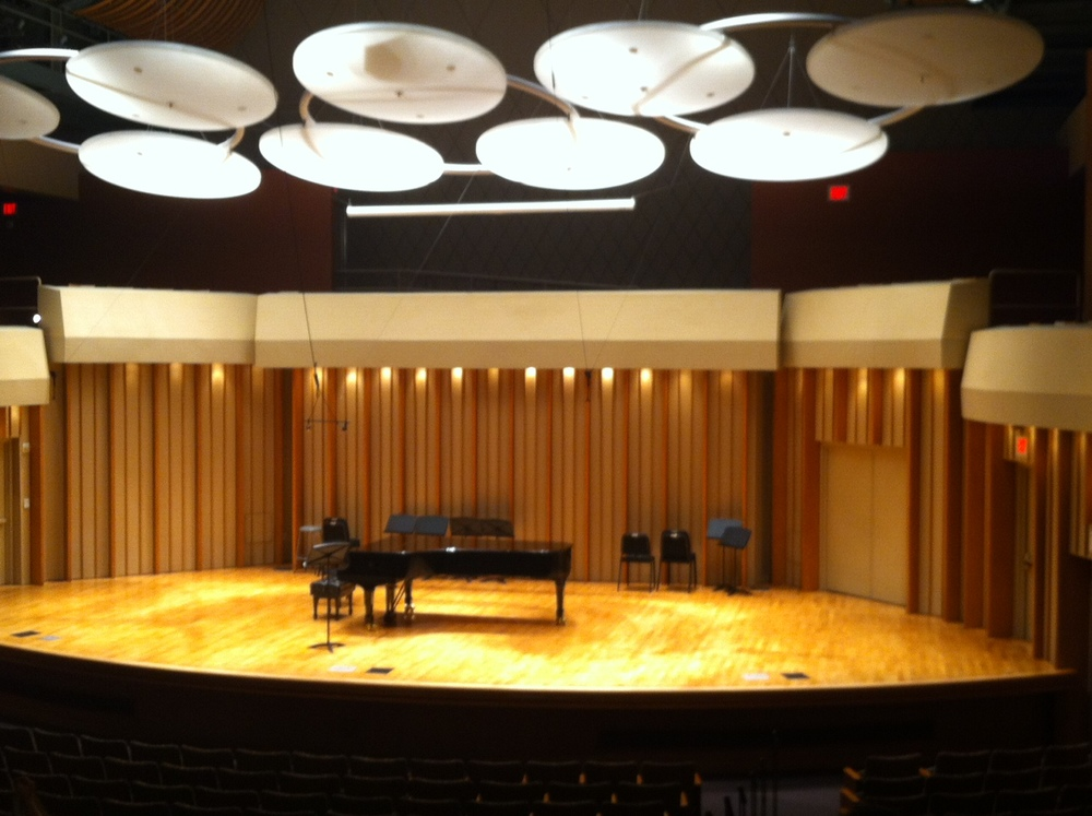 The beautiful performance hall at the Colburn School.