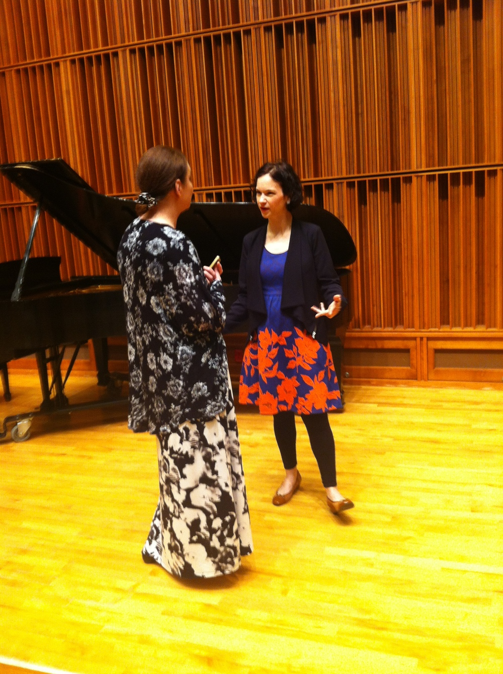 Chatting with Anna Vayman.