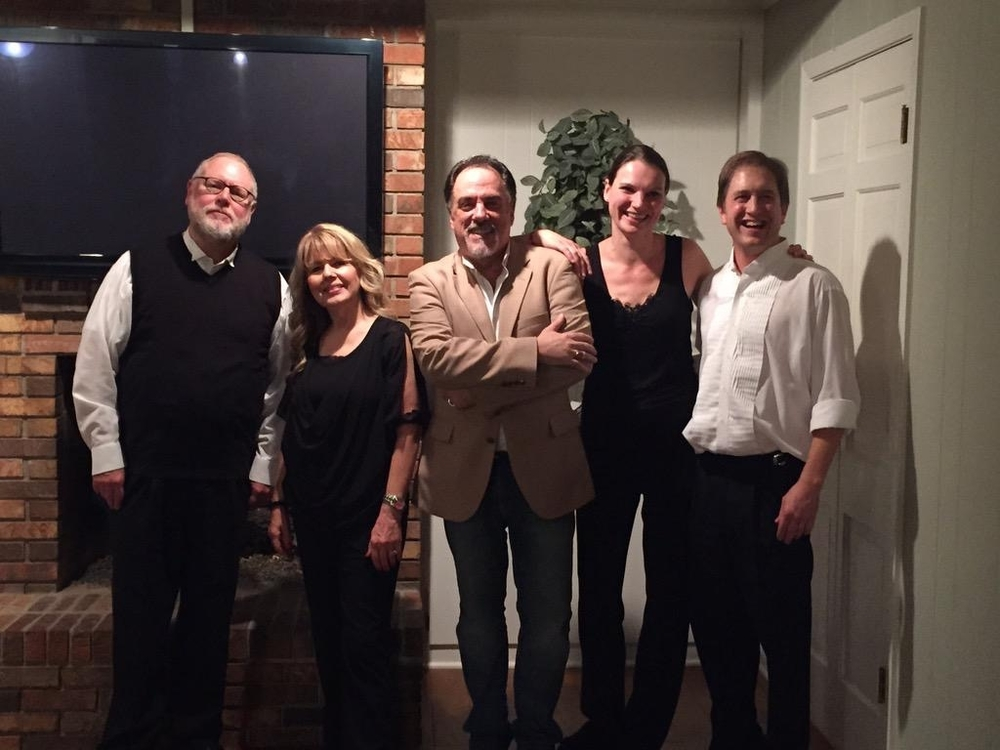 Maestro Rick Sowers, clarinetist Becky Chappell, composer Rick Vale, me, and trombonist John Huntoon.