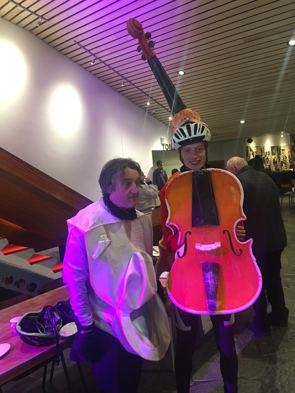 Because sometimes you just need a cycling violist...