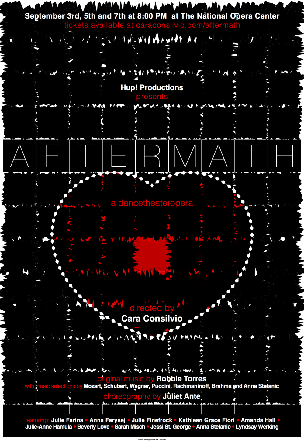 Hup! Productions presents:   Aftermath   A dancetheateropera directed by Cara Consilvio