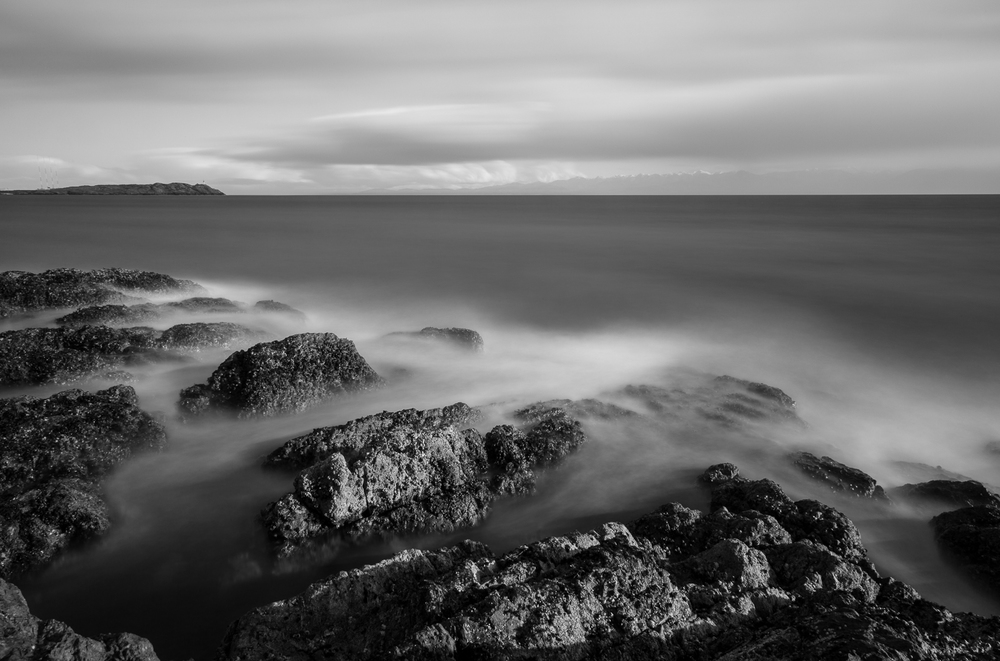 Harling Pt, Victoria looking towards Trial Island. Three minute exposure.