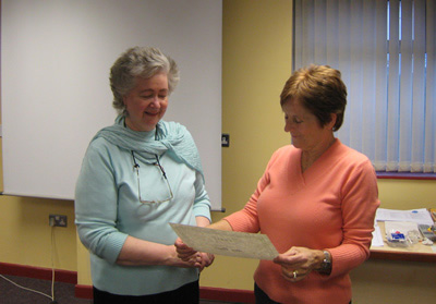 Ann Boyle (IACP) receiving her Certificate in Cognitive Behaviour Therapy.