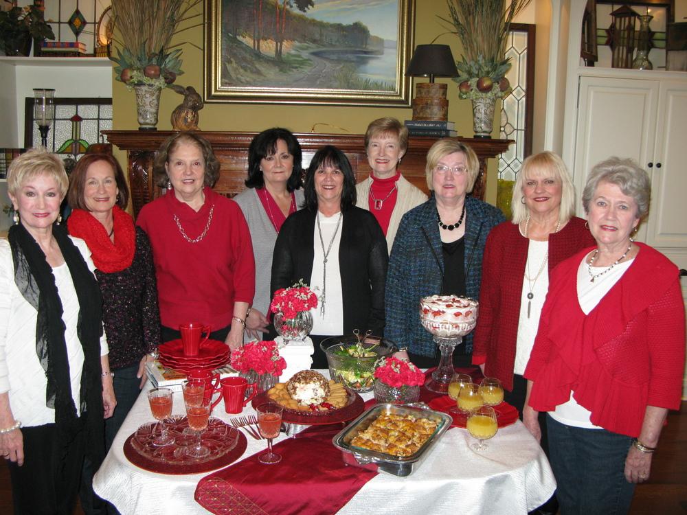 Pictured (l to r): BGC President Charla Jordan, Lynn Mahoney, Suzanne Ross, Mary-Ellen Hester, Delena Hamel, Carol Gallagher, Dixie Vance, Deena Moore, and Carol Atkinson.