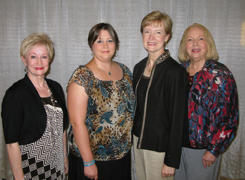 Pictured at the HCC Foundation Scholarship Recognition Reception in October at the Clyde Muse Center (l to r): BGC President Charla Jordan, BGC Scholarship Chairman Carol Gallagher, Ashley Vaughan, and Karein Robinson.