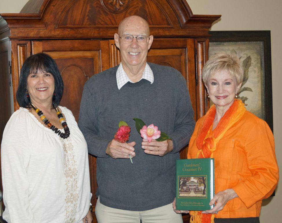 Pictured (l to r): BGC Co-First Vice President Delena Hamel, Homer Richardson, and BGC President Charla Jordan.