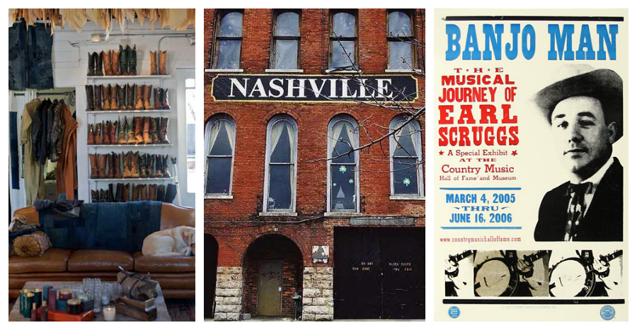 1/ Imogene + Willie   |   2/Nashville    |  3/Hatch Print Shop