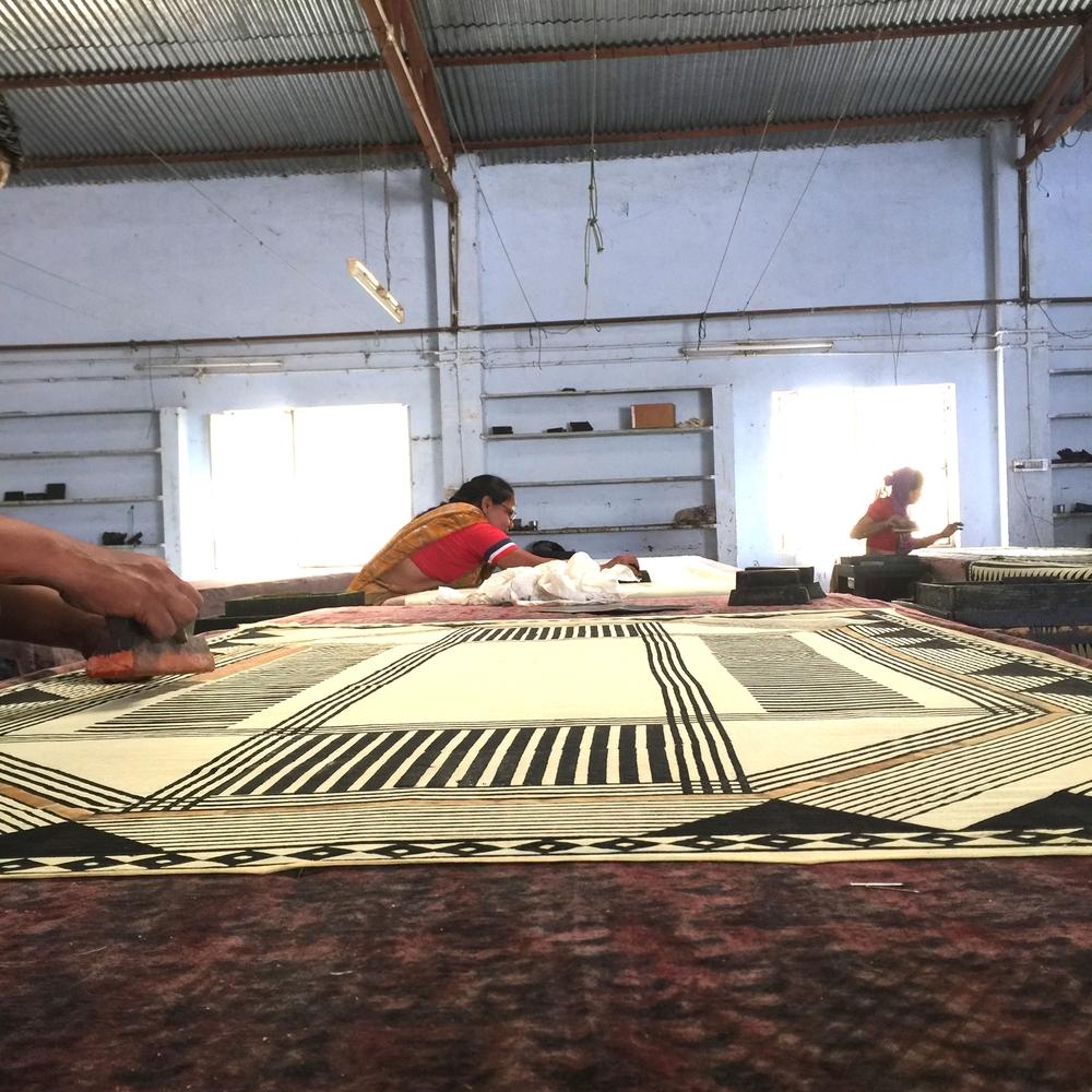 Block Printing in Bagru with natural dyes.