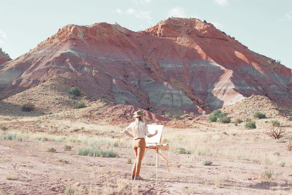 painting at Ghost Ranch.JPG