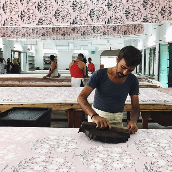JAIPUR, INDIA - Block Printing, Pattern Design, Textiles, Indigo mud resist with Heather Moore, Lotta Jansdotter + Jen Hewett