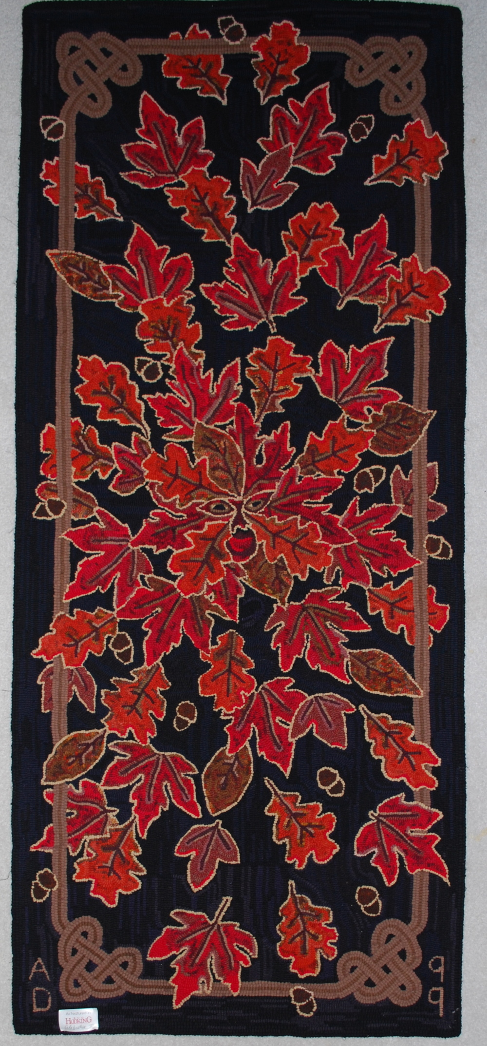 Jack in the Red 199 Featured in Celebration of Hooked Rug XI (1999)