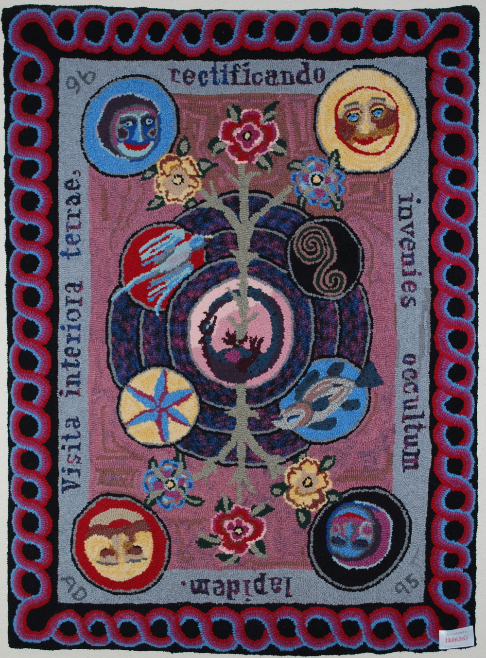 The Hidden Stone  Sauder Village Honorable Mention 1999; Featured in  Rug Hooking Magazine  1998