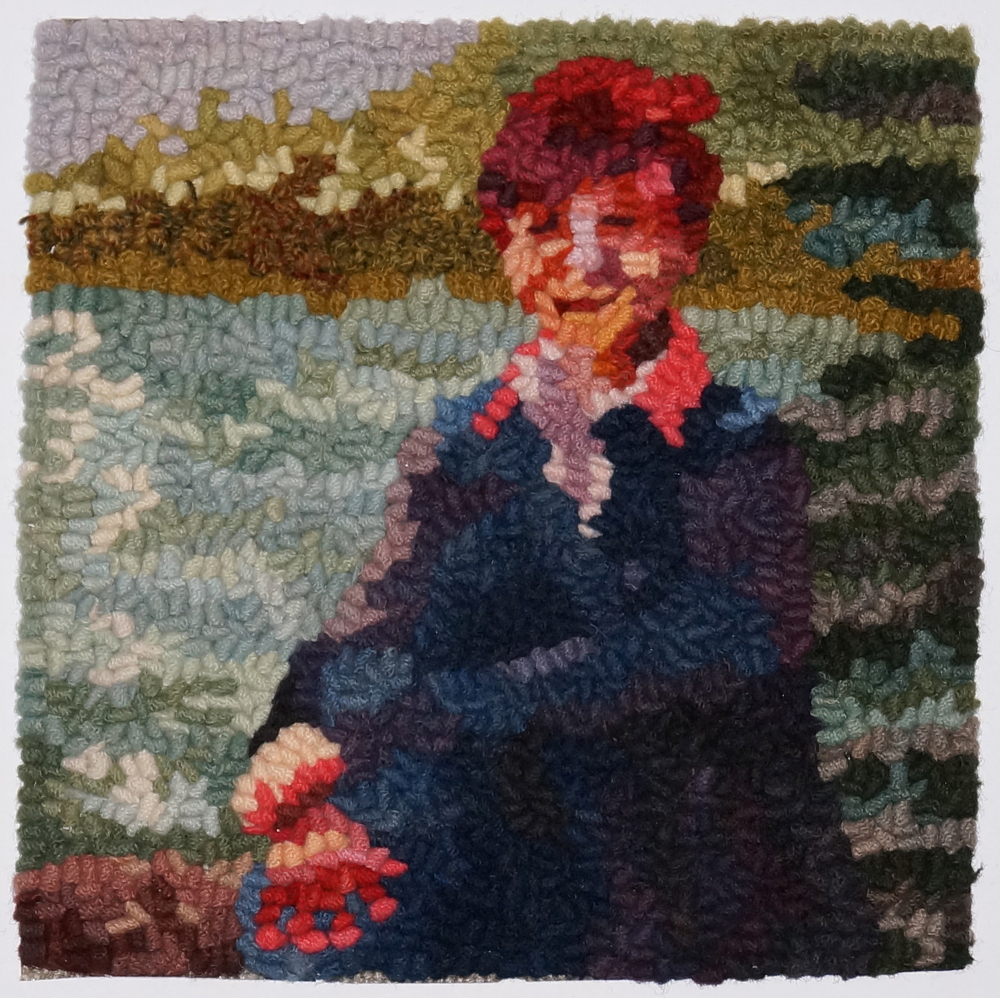 Her Favorite Place 2014  Featured in  Rug Hooking Magazine  2014