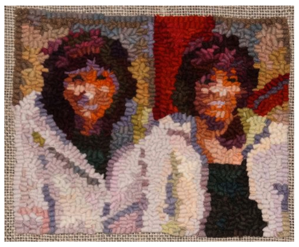 Sisters on Pier 2012 Featured in Rug Hooking Magazine 2014