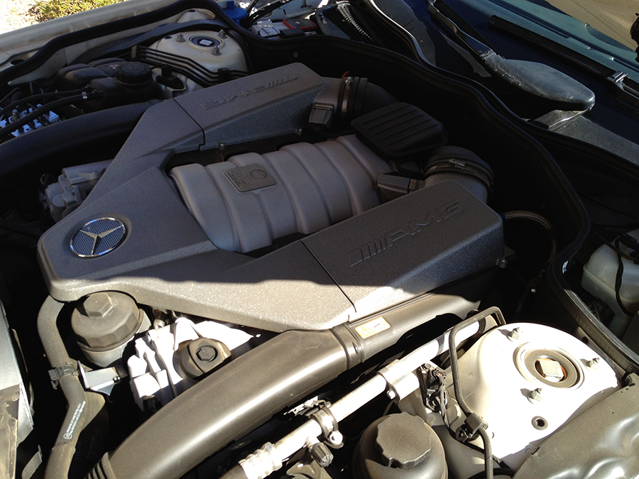 mercedes benz sl63 iwc edition engine before detailing (5).png