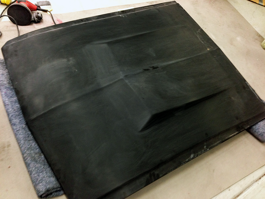 How we received the hood sanded at 1000 grit.