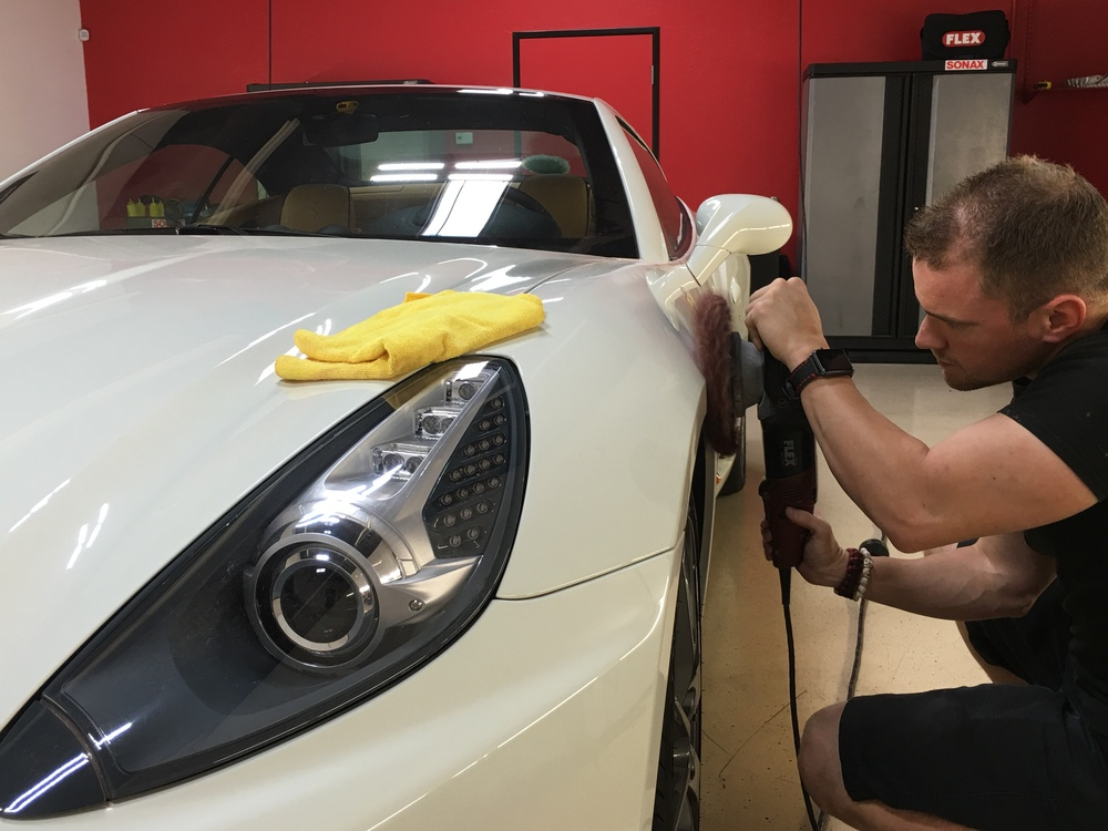 Paint Correction Process underway
