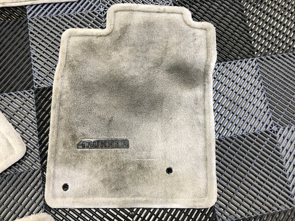 Before: Driver Mat stained