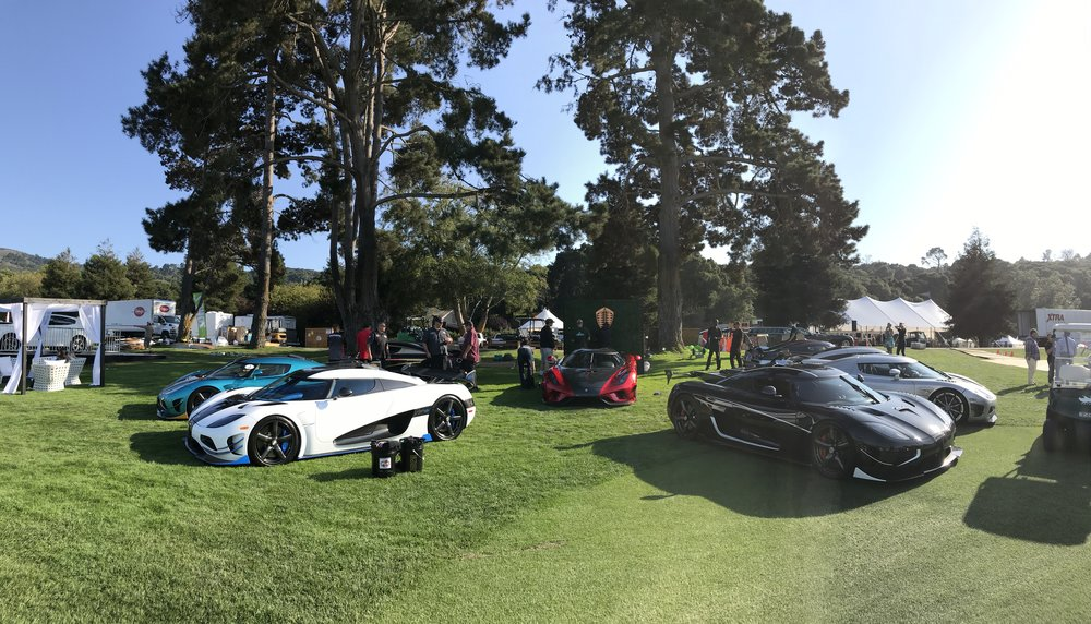 A hive of Koenigseggs we prepared for The Quail, A Motorsports Gathering. The centerpiece? The only Koenigsegg Regera in the country.