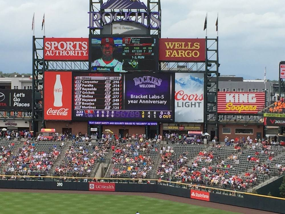 Bracket Labs at Coors Field in June 2015.