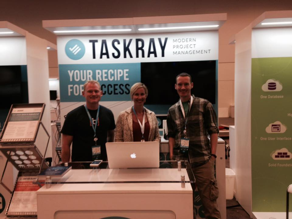 TaskRay team ready for booth duty.