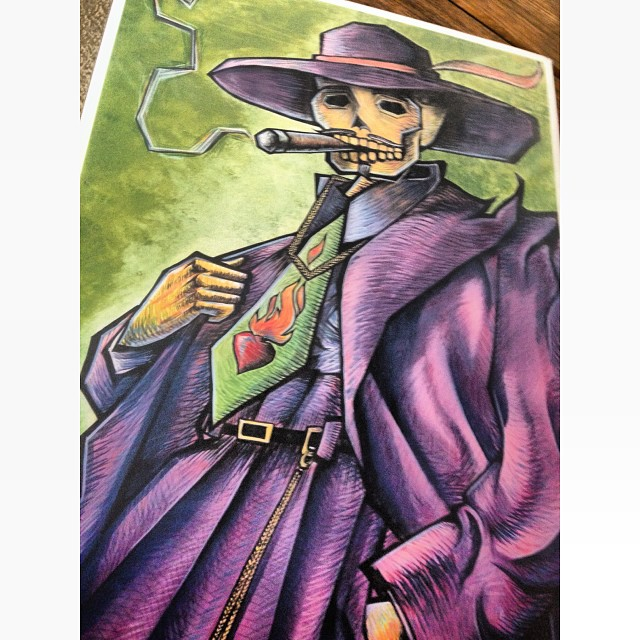 The print that El Moisés is donating to to the El Camino costume contest tonight!!! #elcaminocantinataos #newmexico #bar #art #party #halloween.