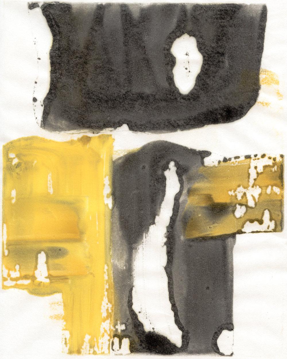 "encaustic monotype on rice paper  2015  8""x10"""