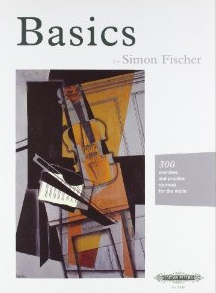 Basics - 300 exercises and practice routines for the violin.  By Simon Fischer