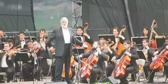 Performing with Placido Domingo in Mexico.