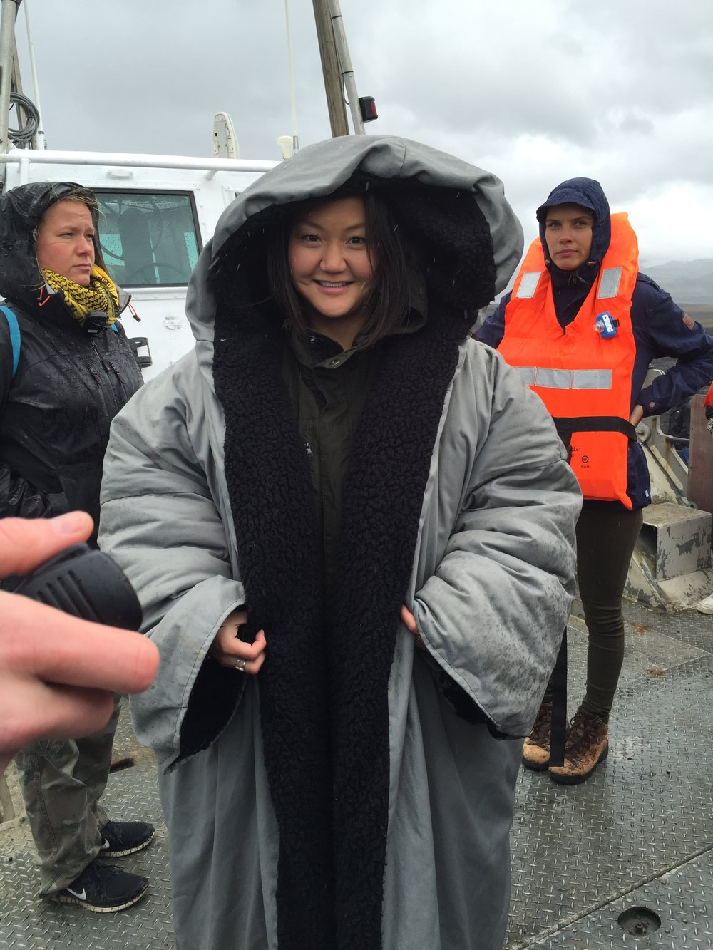 Staying warm on set in Iceland