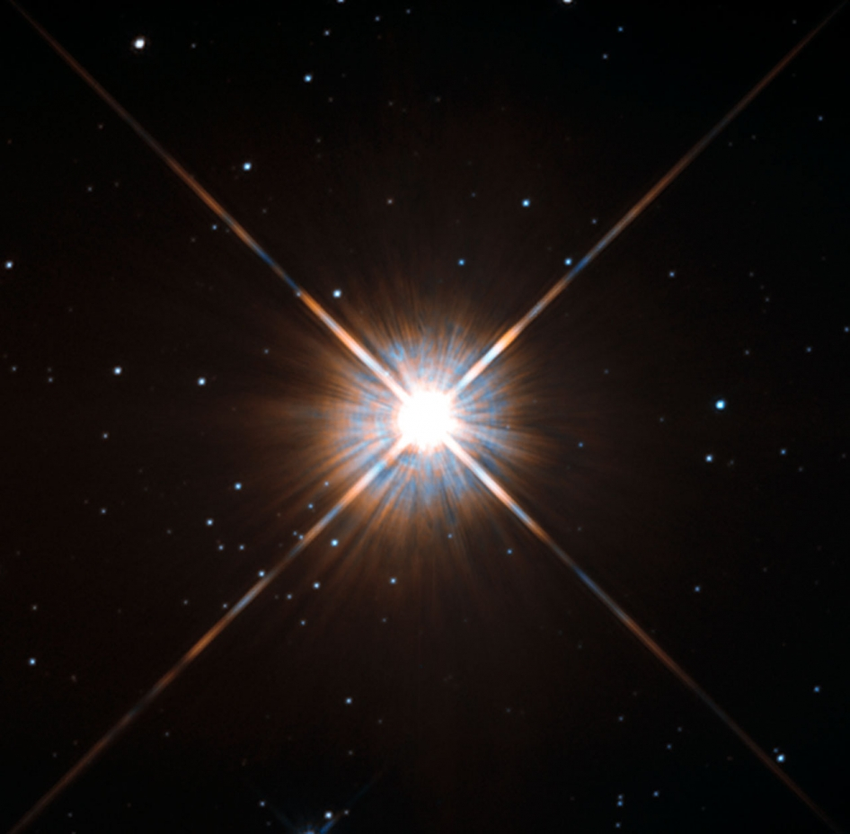 Proxima Centauri imaged by Hubble (photo from NASA)