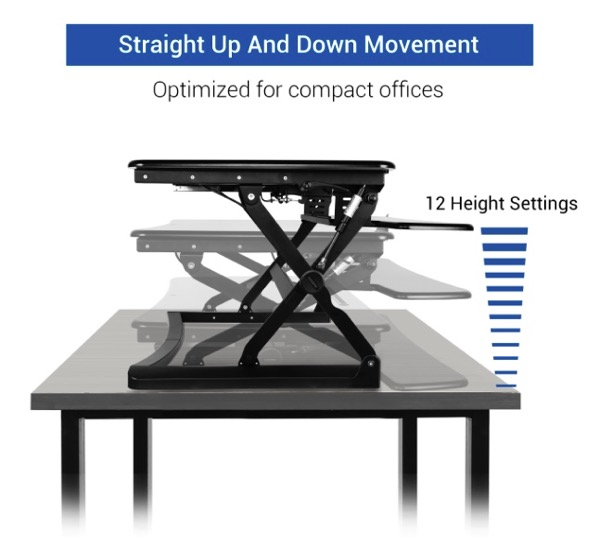 With 12 height settings you will always be able to find just the right height you need