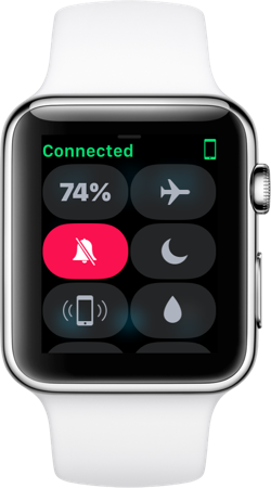 Control Center on Apple Watch