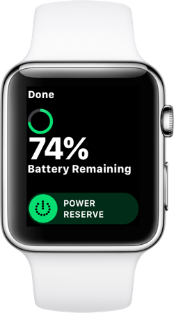 Power Reserve on Apple Watch