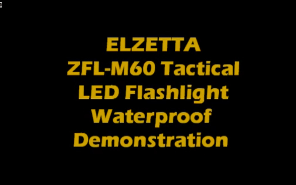 How waterproof is an Elzetta light?
