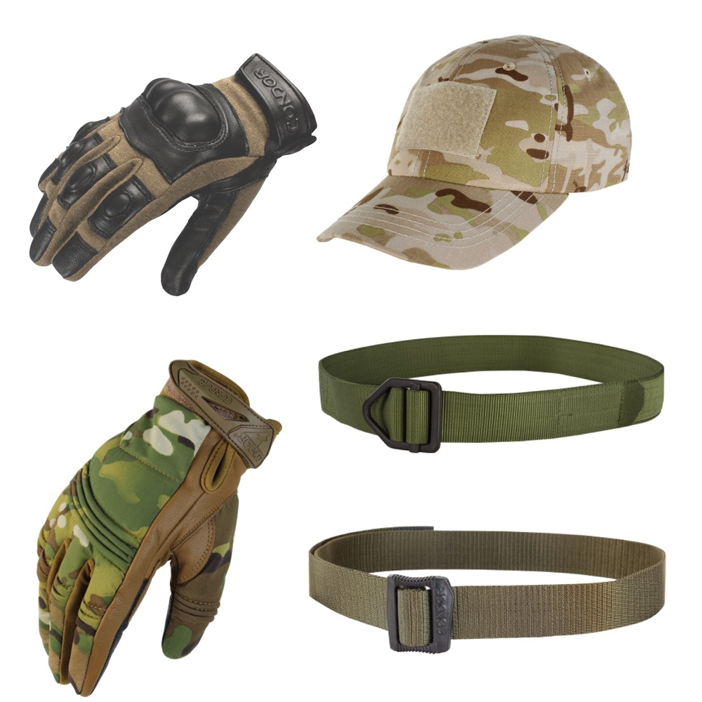 Caps, Gloves & Belts