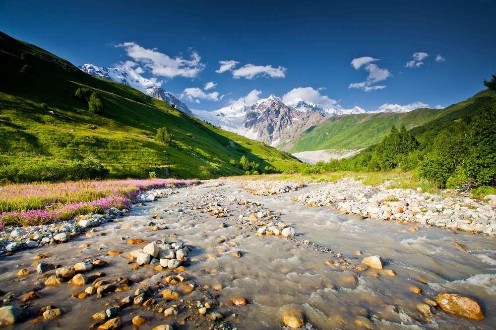 Beautiful valley in Caucasus mountains in Upper Svaneti, Georgia .jpg
