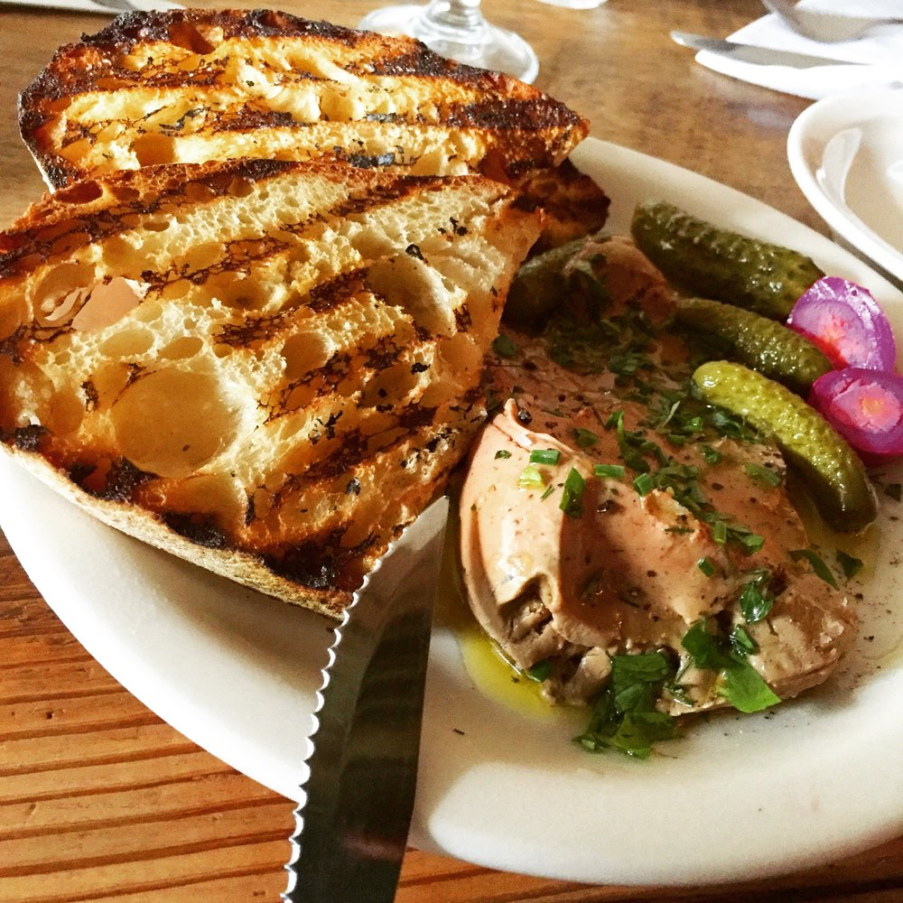 Chicken Liver Mousse - Pickled Quail & Crostini