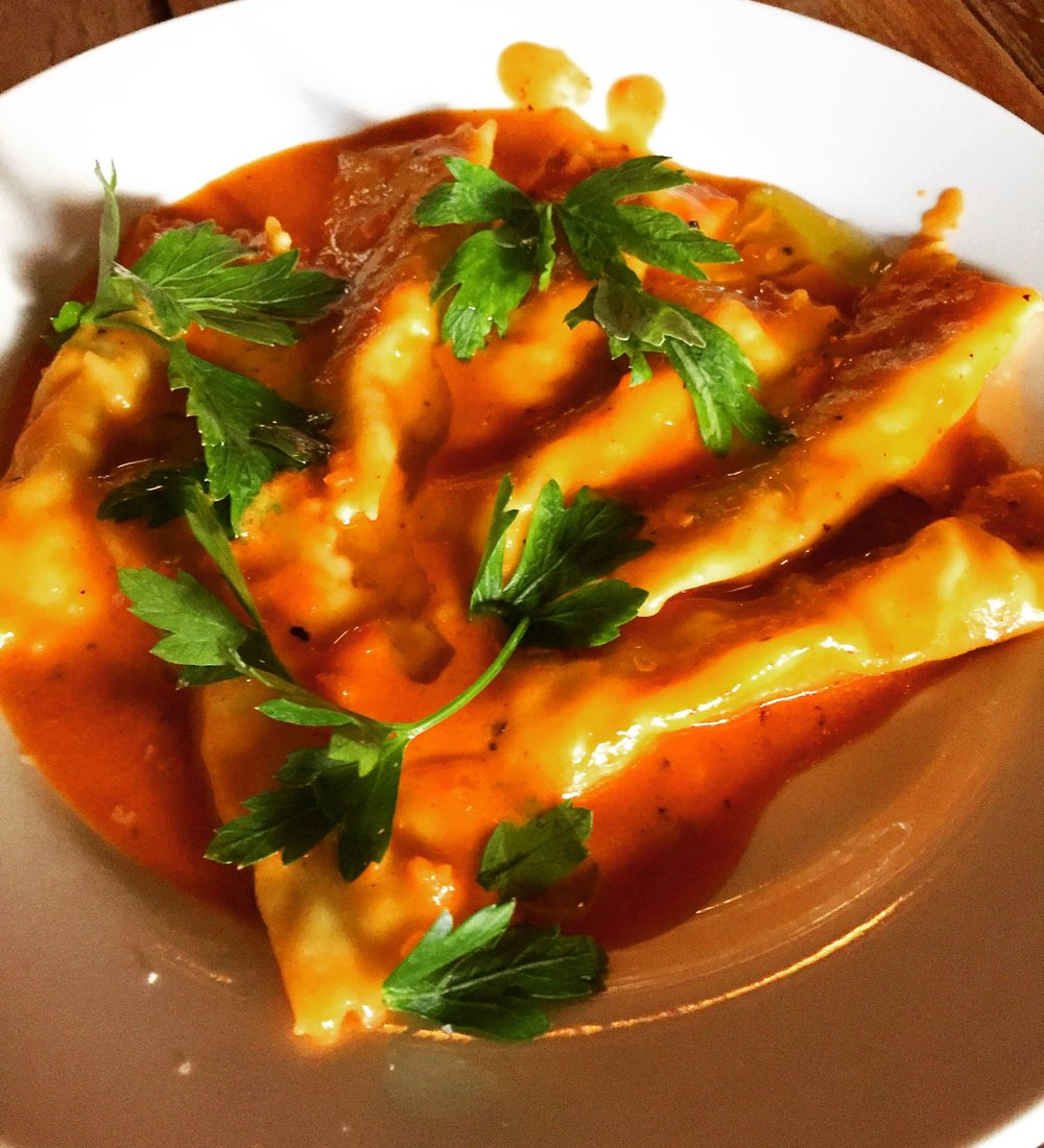 Shrimp Agnolotti - Tomato & Creme & Habanero
